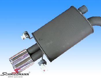 AC Schnitzer sportsbagpotte flad/oval forkromet-Racing- rørhale