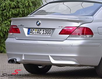 AC Schnitzer sport rear silencer with a flat/oval chromium-plated -Trap-Ment- tailpipe