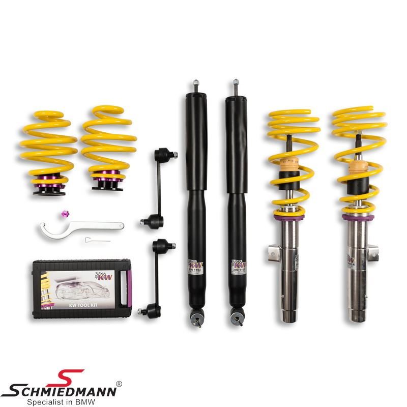 KW Suspensions Coilover -Variant 1- Stainless hight adjustable front 20-40mm/ Rear 20-40mm