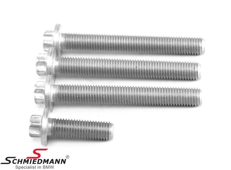 Set of alu. screws for cylinder head