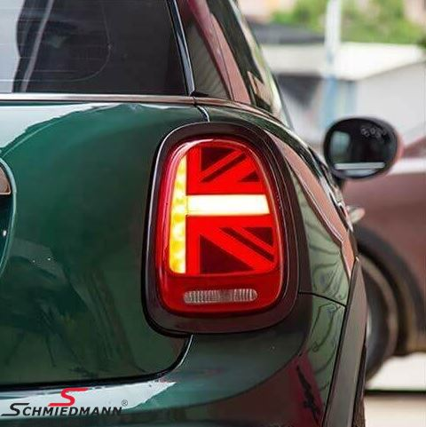 Taillights set Red w. gloss black lightring - UK Design (No coding required)