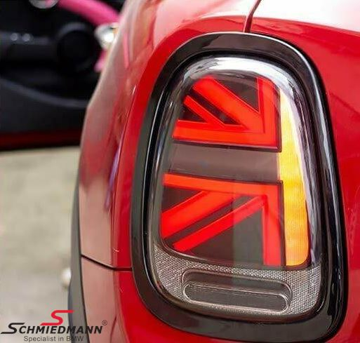 Taillights set smoke with gloss black ring - UK Design (No coding required)