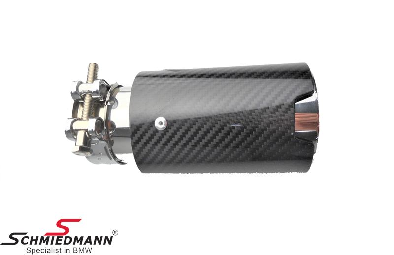 Tailpipe in Carbon - pr pcs. Universel - In 63MM/Out 89mm