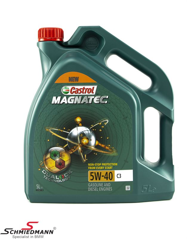 Motoroil Castrol 5W40 Magnatec C3 fully synthetic 5 liter can