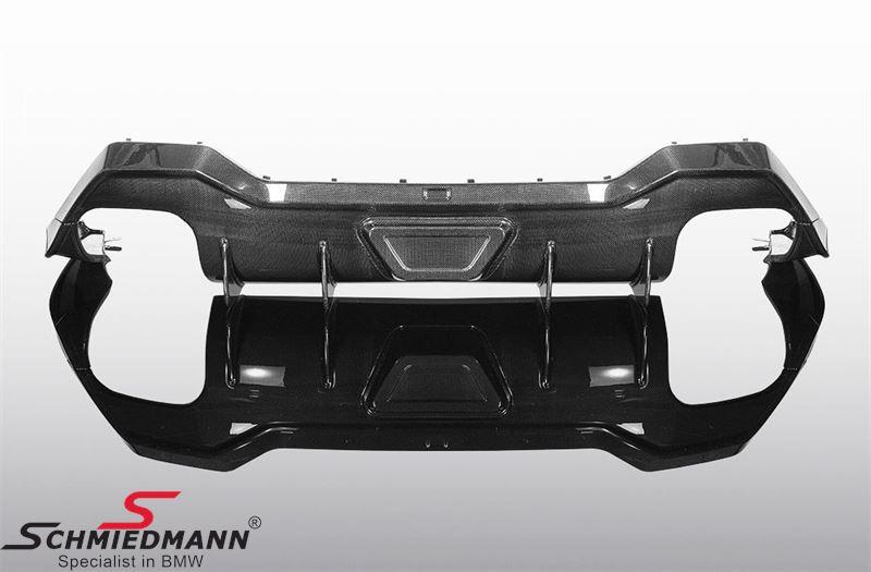 Rear apron trimpanel/diffusor Carbon Fiber - AC Schnitzer (for 4 pipe exhaust system)