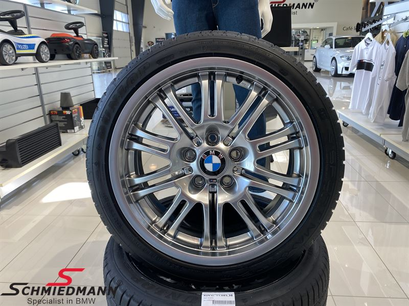 """18"""" M Doppelspeiche 67(Chromshadow), Rim 8X18 ET47 (original BMW M3) Rims has been fitted with Dunlop Sport Maxx RT 225/40 R18 92ZWY - Sale, never seen cheaper!"""