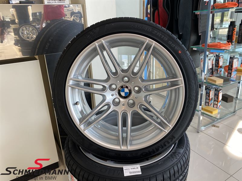 """36117841376DAEK 36117841376 36 11 7 841 376 7841376  19"""" Doppelspeiche 288, Rim 9X19 ET14 (original BMW) - Has been fitted with Kumho Ecsta PS71 245/40 ZR19 98Y XL Sale, never seen cheaper!"""