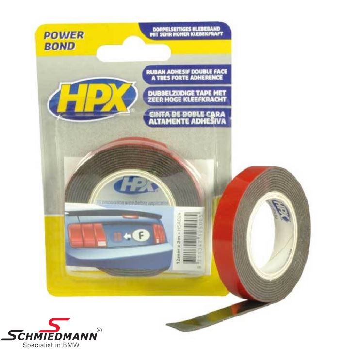 HPX Double Sided Tape 12MM - 2M roll