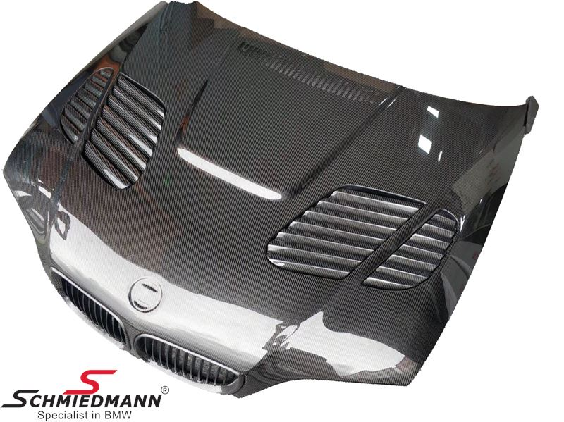 Hood EVO with integrated air intakes genuine carbon
