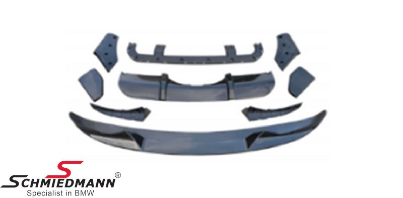 SPKITX5F15CL  Aero kit - Motorsport - Carbon Look - front+rear bumper attachments, to be installed on the original bumpers