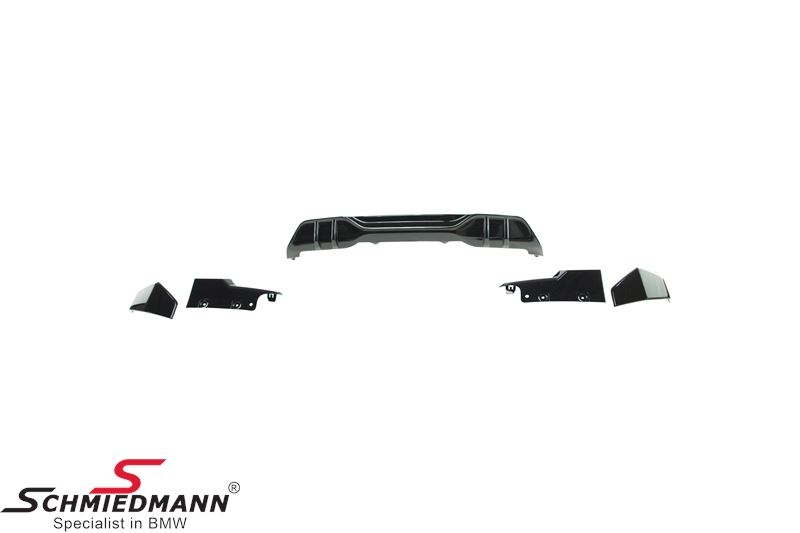 ARKITX5G05GB  Aero kit - Hockenheim - Gloss Black - front+rear bumper attachments, to be installed on the original bumpers