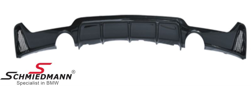 Rear Diffuser Gloss black with cutout for single tailpipe in both sides
