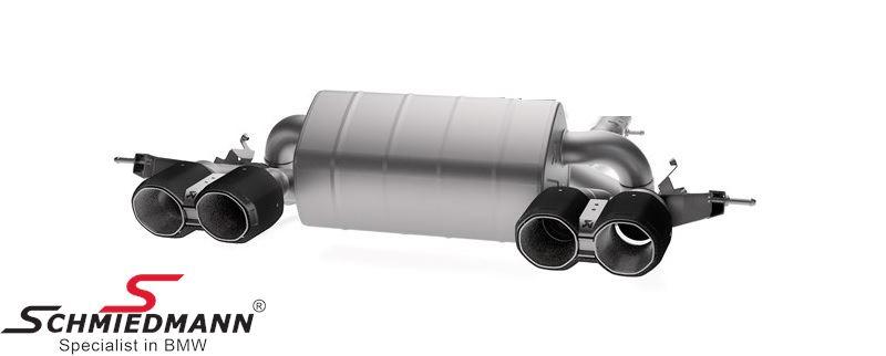 Akrapovic sport rear silencer, Slip-On Line (Titanium)