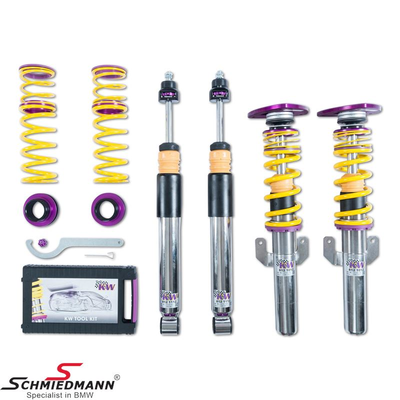 KW Suspensions Coilover -Clubsport 3-way- Stainless hight+rebound adjustable front/rear (with deactivation for electronic damper control)