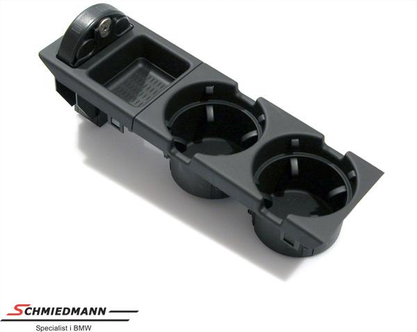 BMW E46 Getränkehalter schwarz Nachrüstsatz komplett inkl. Münzbox