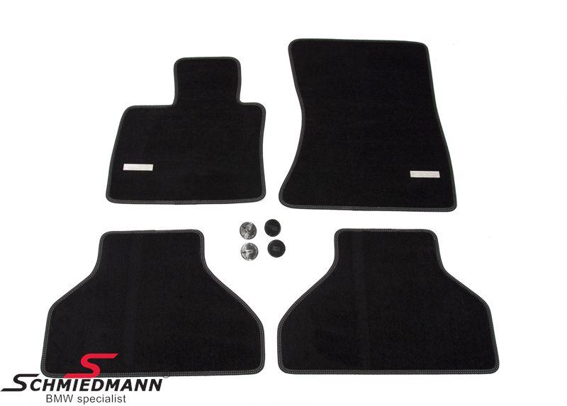 Schmiedmann -Exclusive- erikoispaksut lattiamatot eteen/taakse mustat