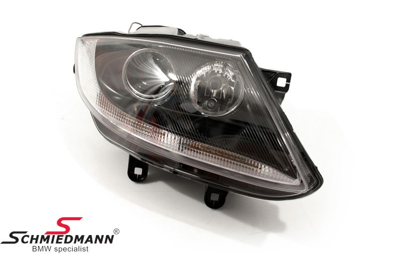 63 12 7 165 709 Headlight With White Indicator With Chrome