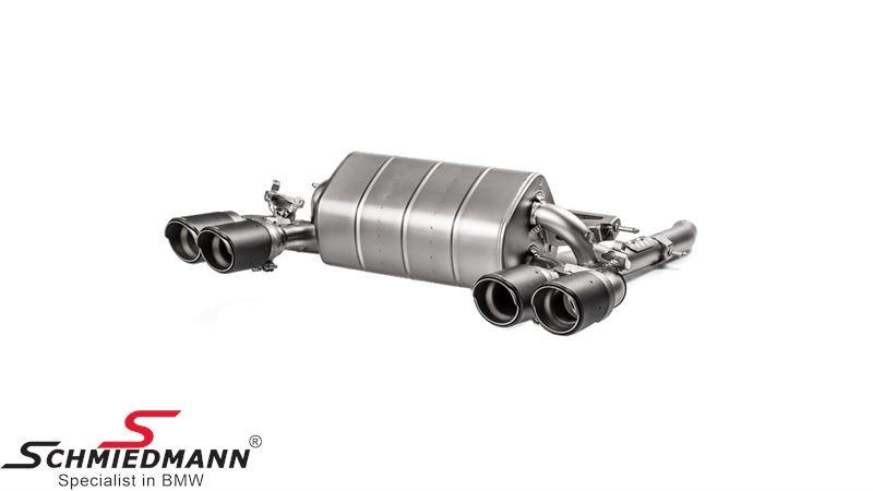 Akrapovic sport rear silencer, Slip-On Line (Titanium) M2 CS ECE Approval