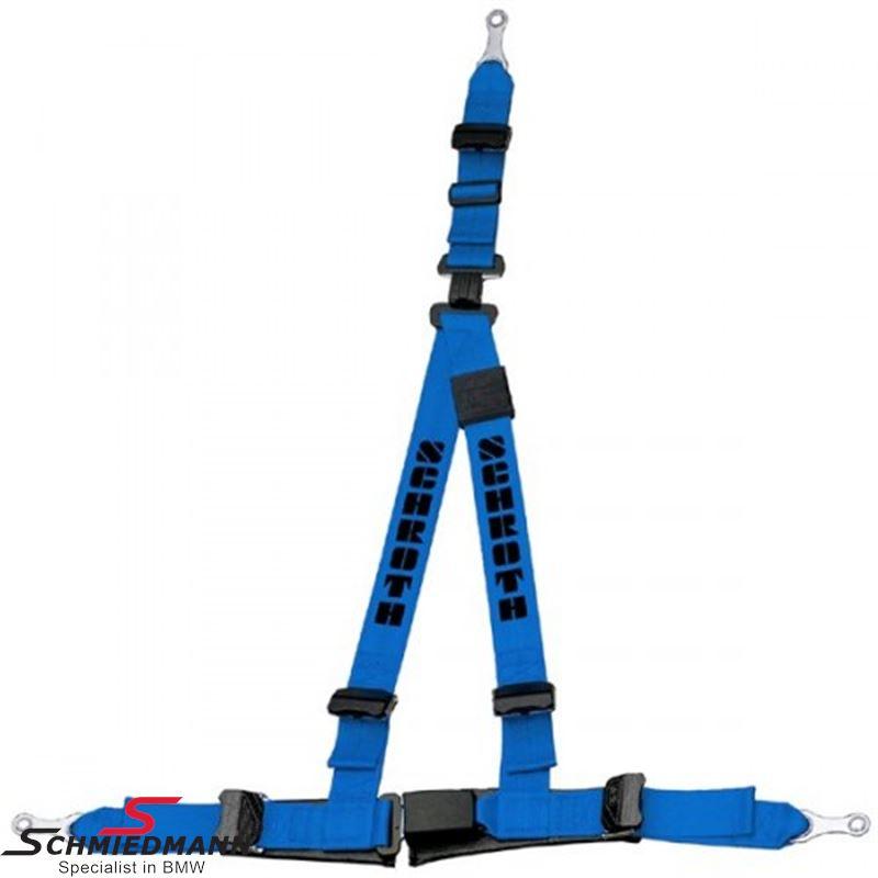 Racing 3 point restraints -Hosenträgergurt- Rallye 3 asm® original -Schrothgurt- blue L.-side