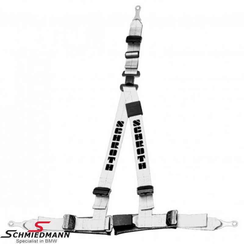 Racing 3 point restraints -Hosenträgergurt- Rallye 3 asm® original -Schrothgurt- silver R.-side