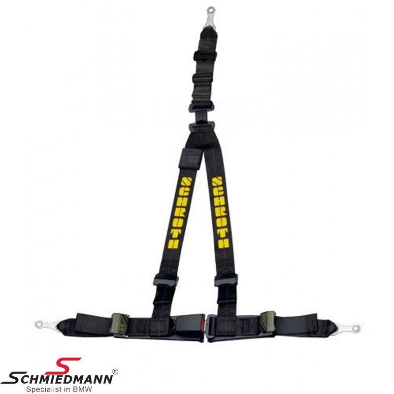 Racing 3 point restraints -Hosenträgergurt- Rallye 3 asm® original -Schrothgurt- black R.-side