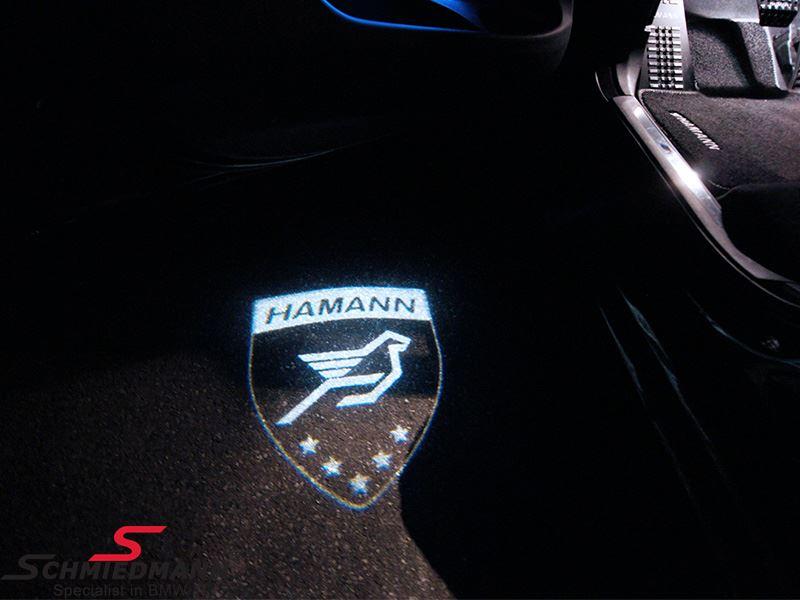 LED Door projector with HAMANN logo.