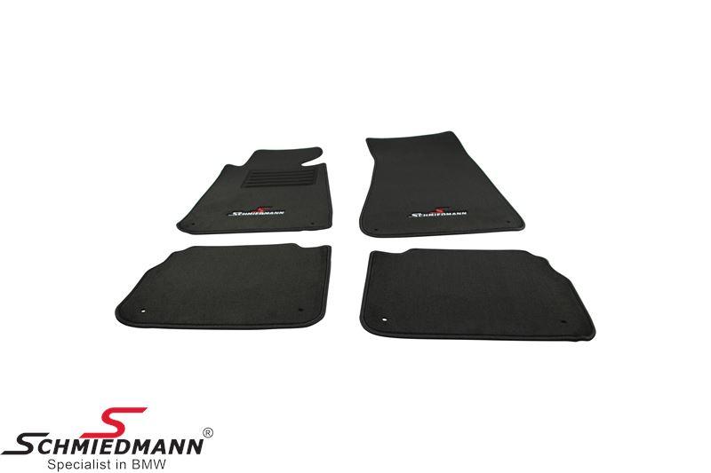BMW E34 Fussmatten vorne/hinten original Schmiedmann -Sport Edition- schwarz