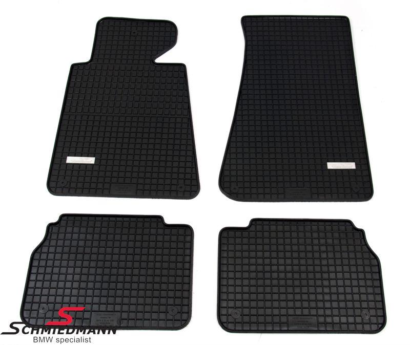 BMW E34 Schmiedmann -Exklusiv- Gummifussmatten vorne/hinten schwarz
