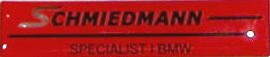Schmiedmann logo plate small 55X12MM