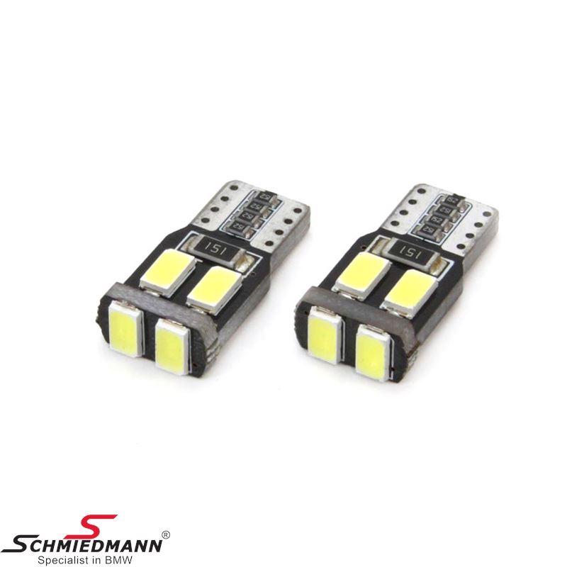 LED VERTEX CANBUS 6SMD-2 5730 T10 (W5W) White