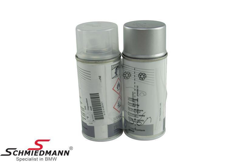 Spray paint (paint/clearcoat) Titan Silver Met. 354