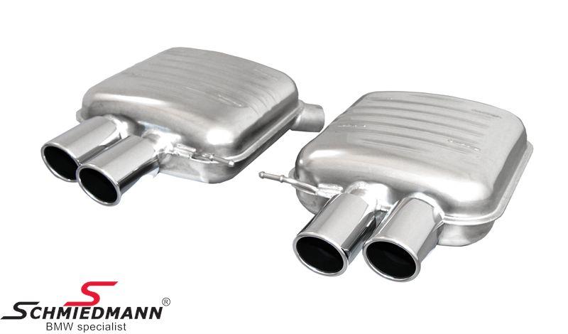 Sports rear silencer set Eisenmann tailpipes round 4XØ90MM