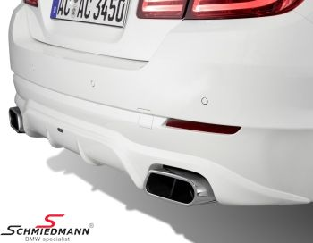 AC Schnitzer sport rear silencers with flat/oval chromium-plated -Sports Trim- design  tailpipes