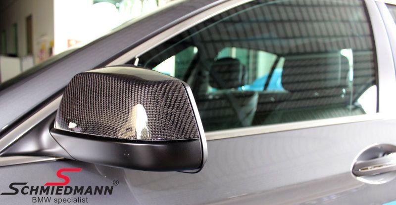Hiilikuituiset sivupeilin kuoret - BMW alkuperäinen - VASEN