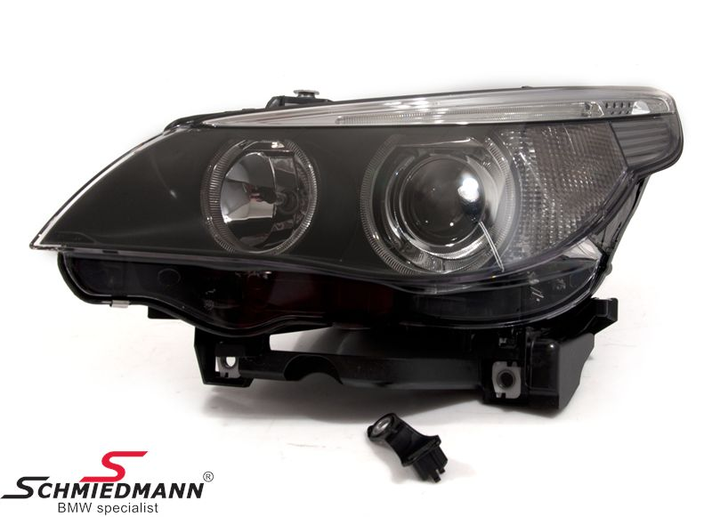 Headlight L.-side complete with bi-xenon without adaptive light Hella (original)