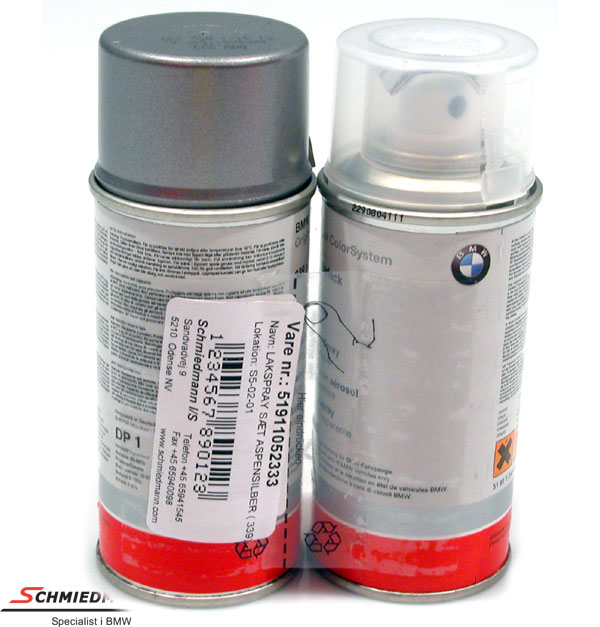 Paint work spray (paint/clearpaint) Aspensilber met.339