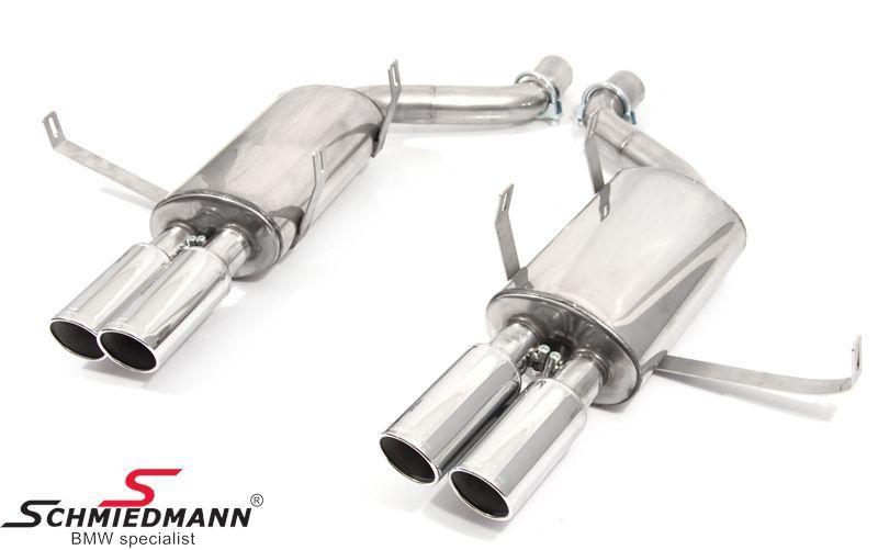 Schmiedmann rustfri-stål sportsbagpotte sæt 4XØ76MM