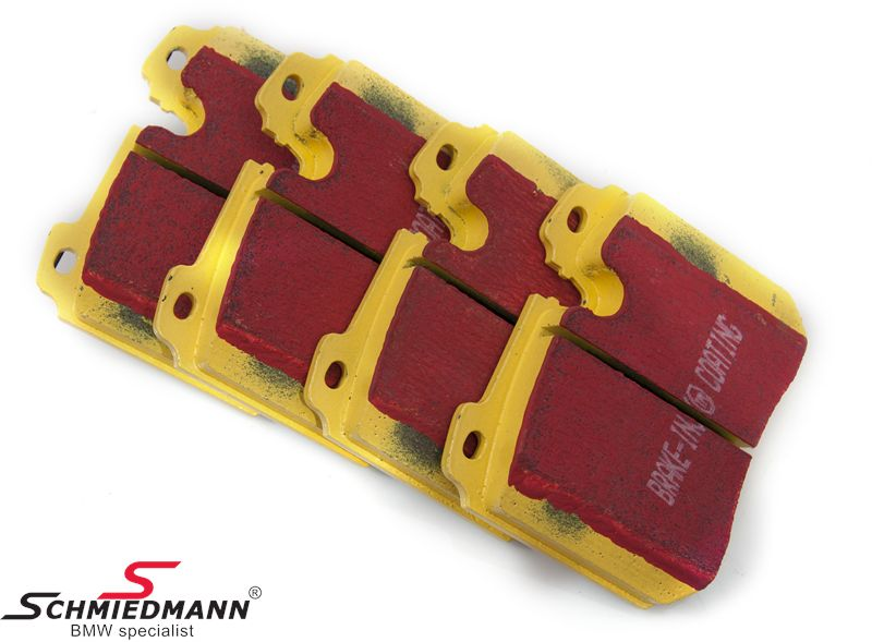 Racing brake pads front EBC red stuff (for race and extreme driving)