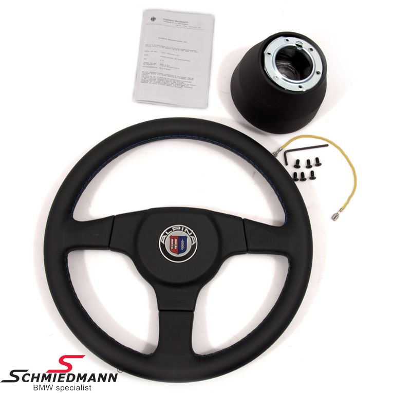 Sport steering wheel leather 3 spoke original Alpina D=360MM