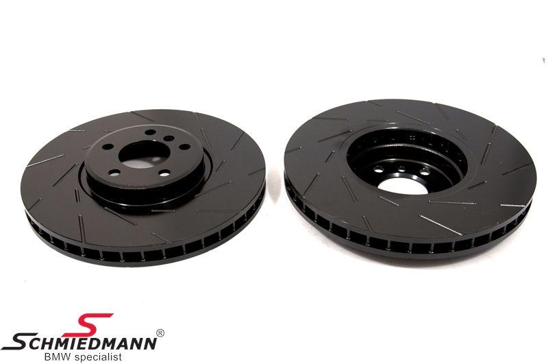 Racerbremse-skiver for sæt 356X36MM ventilerede m. riller EBC Ultimax BlackDash
