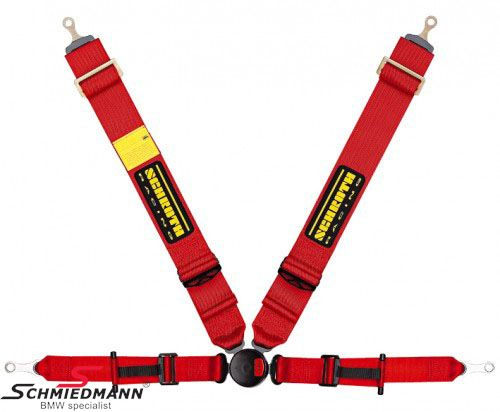 Racing 4 point restraints -Hosenträgergurt- Profi II-FE asm original -Schrothgurt- red R.-side