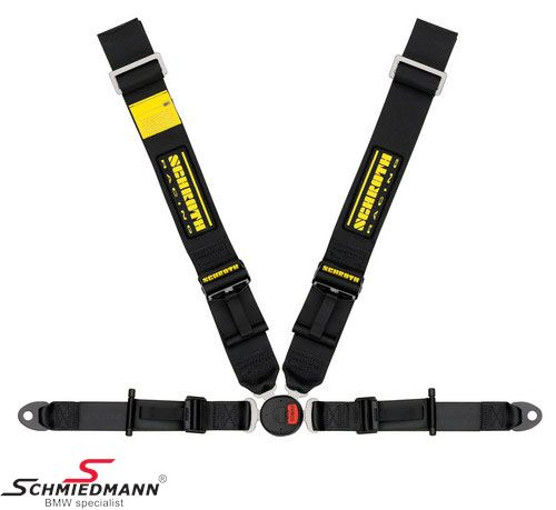 Racing 4 point restraints -Hosenträgergurt- Profi II-FE asm original -Schrothgurt- black L.-side