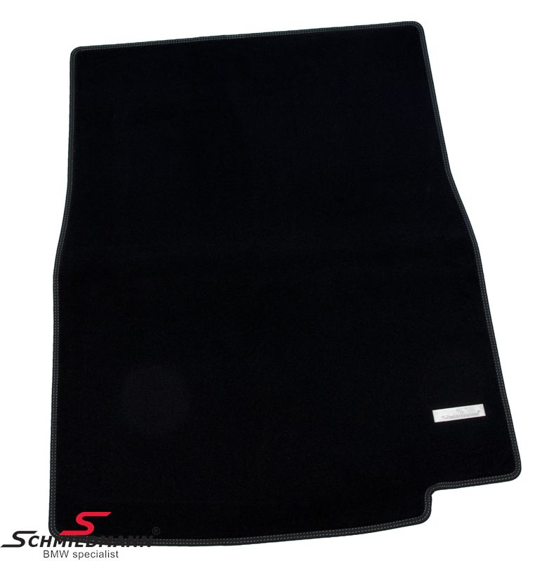 Trunk mat original Schmiedmann -Exclusive- black extra thick quality with a metal emblem