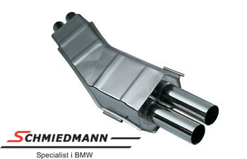 Eisenmann sport rear silencer 2XØ70MM