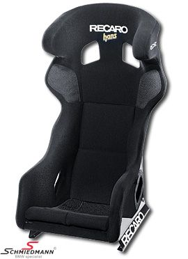 Sportsæde Recaro -Pro Racer SPG HANS XL-(til lidt kraftigere personer) Perlonvelour black/black passer i H.+V.-side