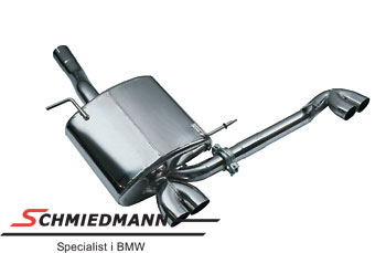 4 rør Eisenmann sportsudstødning i M- look 4XØ76MM