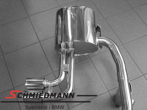 Eisenmann sport rear silencer 2XØ76MM center placed