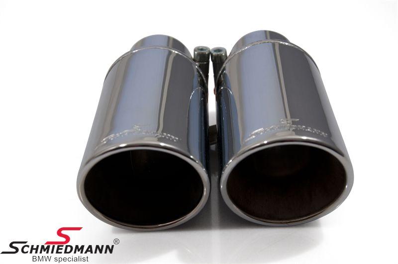 Schmiedmann krom-rørhale dobbelt 2X76MM