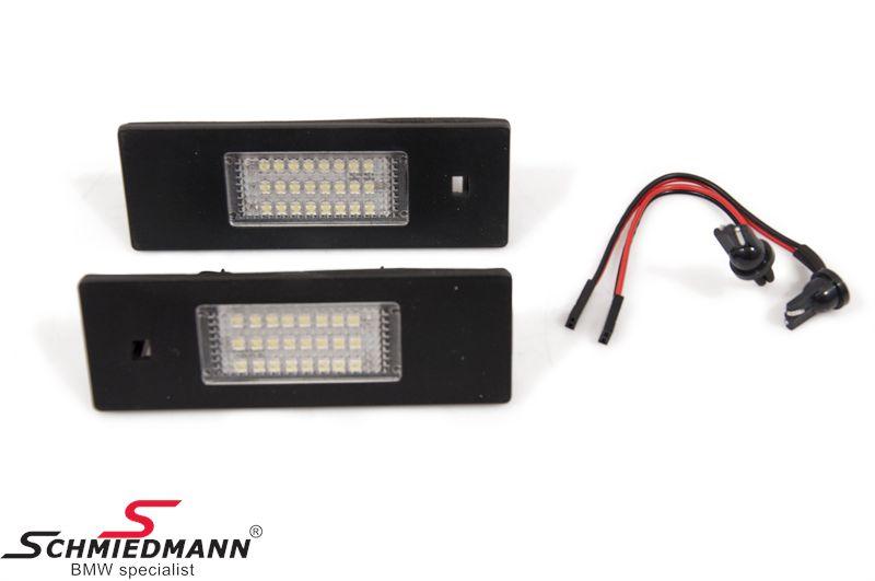 LED nummerplade-lygte sæt
