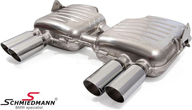 Eisenmann sportsbagpotte 4XØ83MM RS -Race Sound- uden Tüv